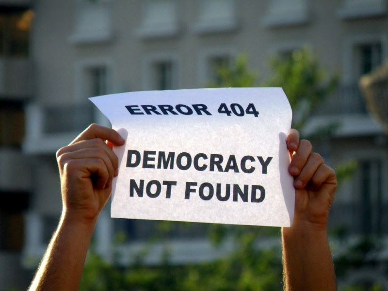 Democracy dont found